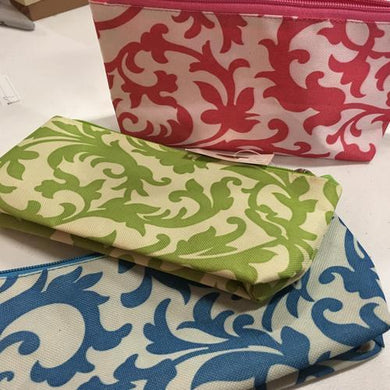 Damask Spring Zipper Cosmetic Pouch