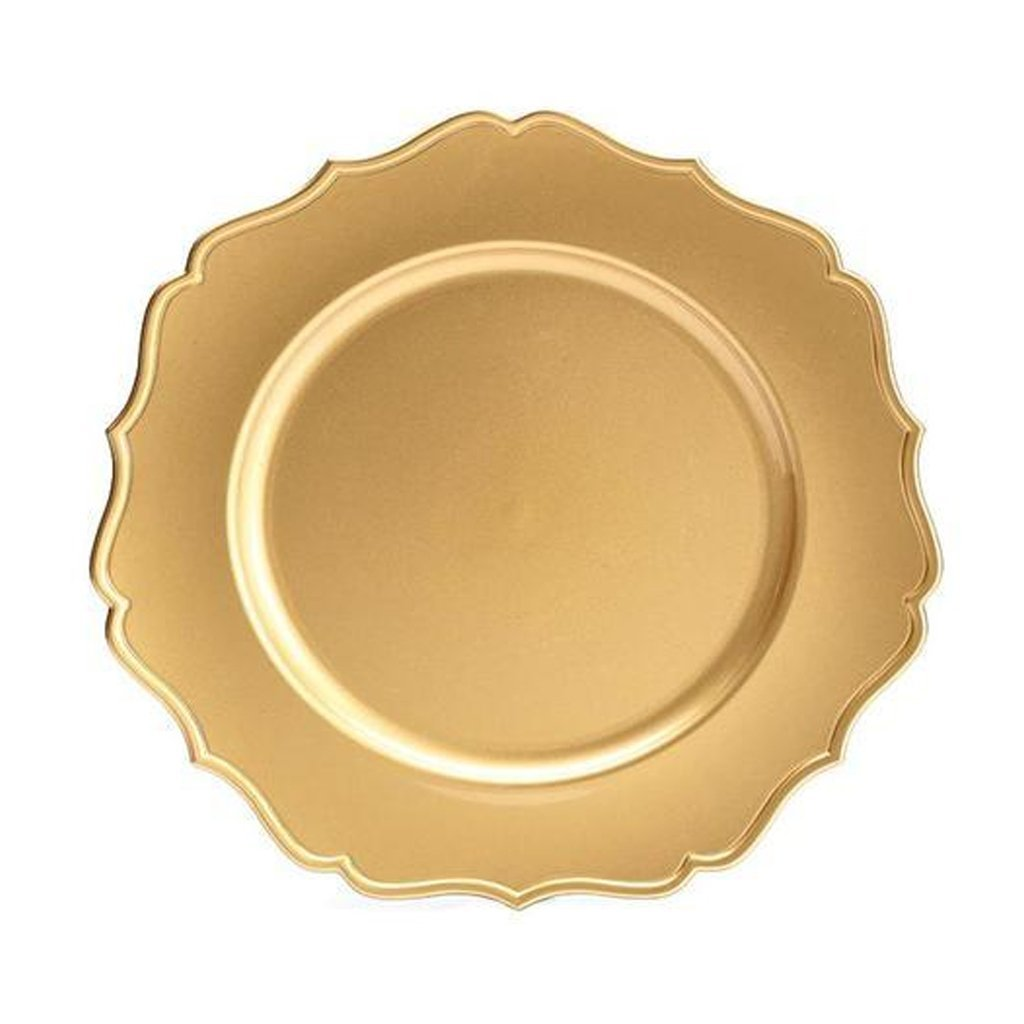 Gold Plate Charger Scalloped Edge