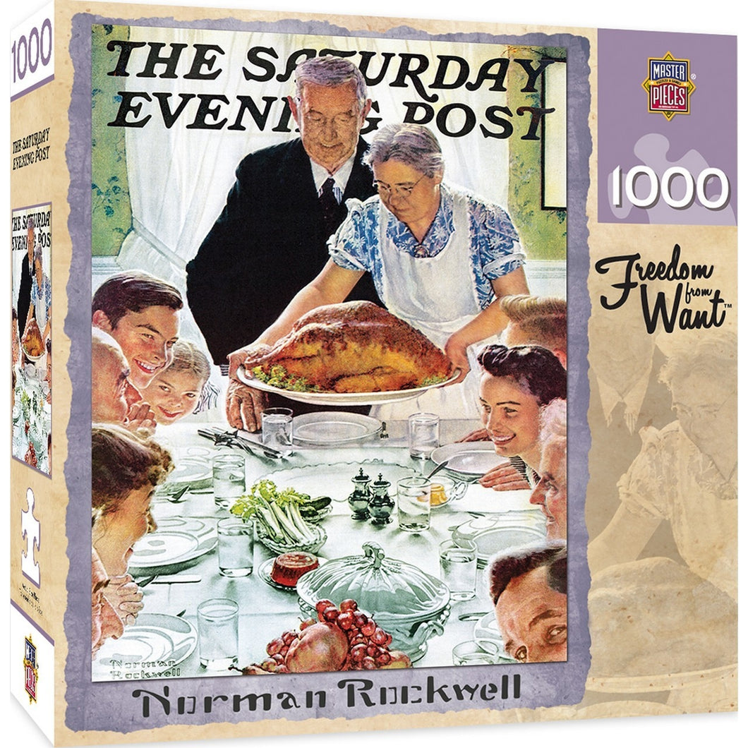 Saturday Evening Post - Freedom From Want 1000 Piece Jigsaw Puzzle by Norman Rockwell