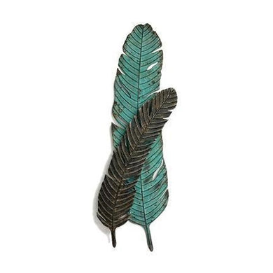 Double Turkey Feather Wall Decor