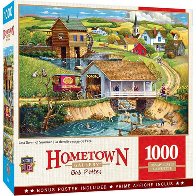 Hometown Gallery Last Swim of Summer - 1000 Piece Jigsaw Puzzle