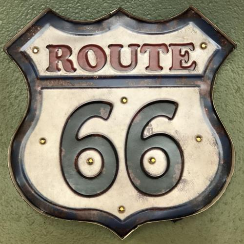 Route 66 Light Up Metal Sign