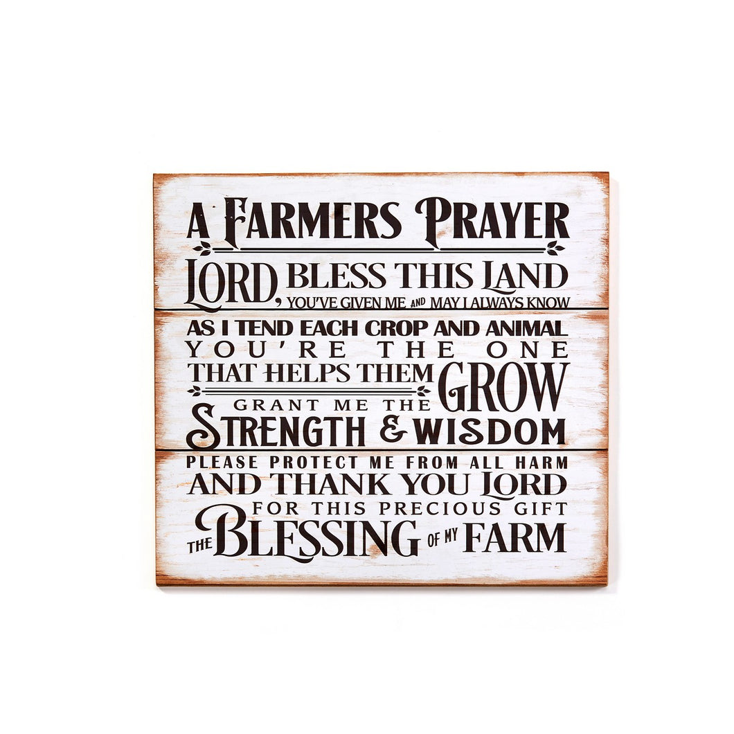Farmer's Prayer Wall Sign