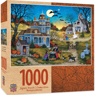 Three Little Witches 1000 Piece Halloween Jigsaw Puzzle by Bonnie White