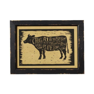 Cow Butcher Wall Decor