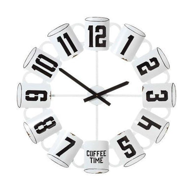 Coffee Cup Wall Clock White