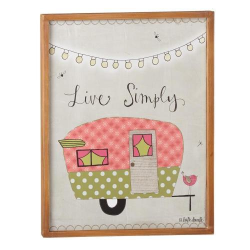 Live Simply Pine Wall Decor