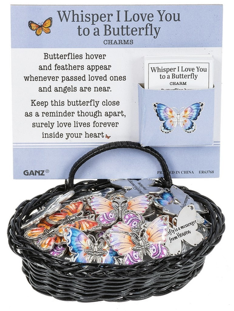 Whisper I Love You Butterfly Charm