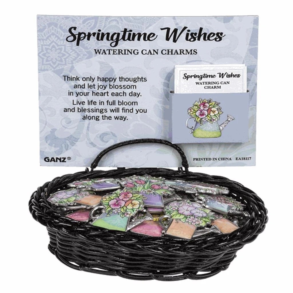 Springtime Wishes Watering Can Charm