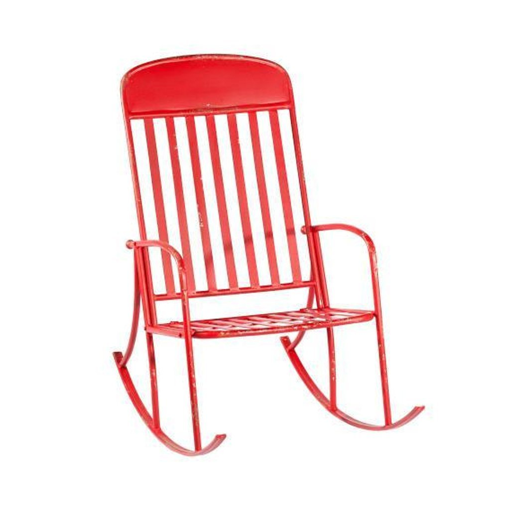 Distressed Red Rocking Chair