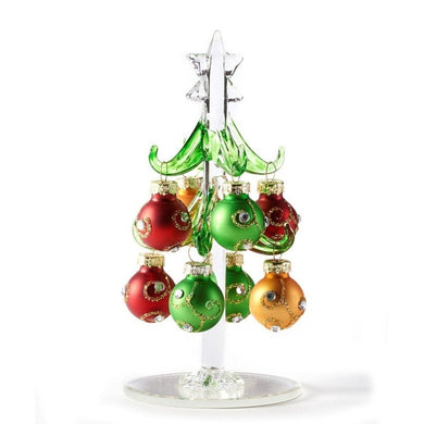 Blown Glass Tree with Ornaments