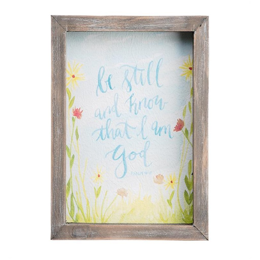 Be Still and Know Framed Watercolor