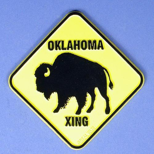 Oklahoma Buffalo Crossing Magnet