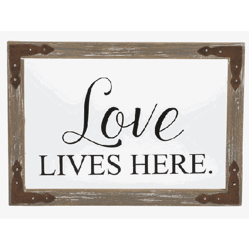 Love Lives Here Window Plaque