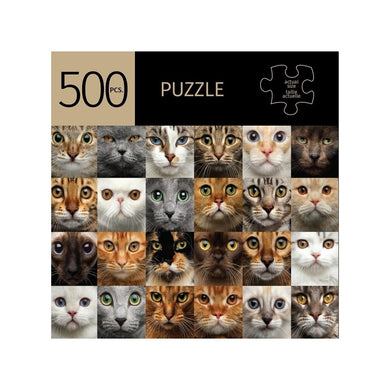 Cat Faces 500 Piece Puzzle