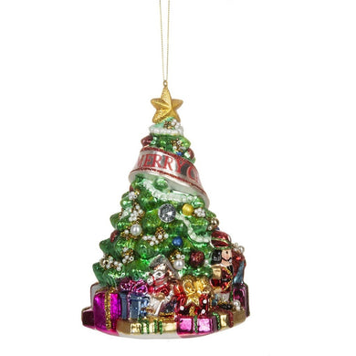 Glass Merry Christmas Tree Ornament