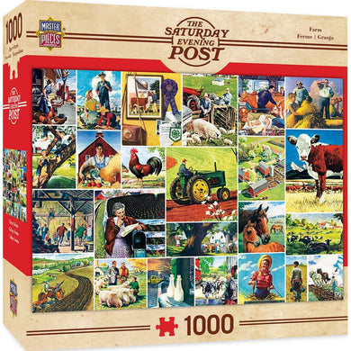 Saturday Evening Post Farmland Collage 1000 Piece Jigsaw Puzzle