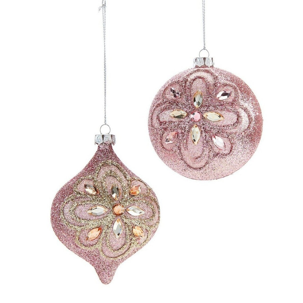 Pink Glitter Ornament With Sequins
