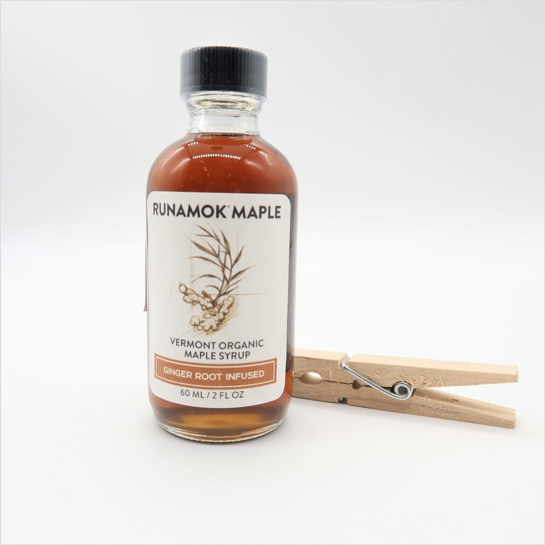 Ginger Root Infused Maple Syrup 60ml