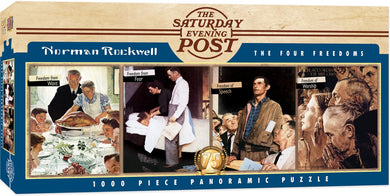 Saturday Evening Post - The Four Freedoms 1000 Piece Panoramic Jigsaw Puzzle by Norman Rockwell