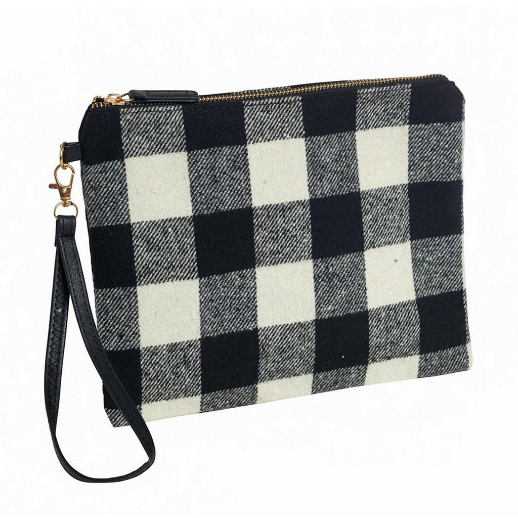 Black And White Gingham Clutch