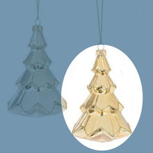 Gold or Silver Glass Tree Ornament