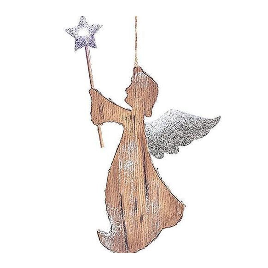Angel With Star LED Ornament
