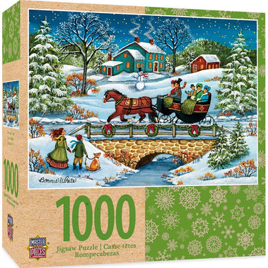 Over the River 1000 Piece Holiday Jigsaw Puzzle by Bonnie White