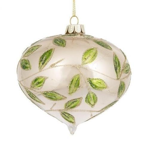 Leaf Drop Glass Ornament