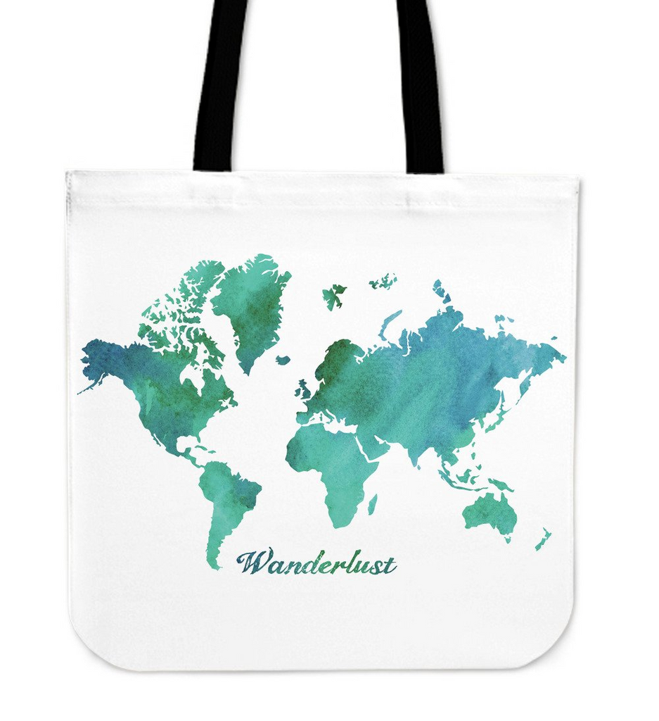 Watercolor world map wanderlust premium tote bag dazl online watercolor world map wanderlust premium tote bag gumiabroncs Choice Image