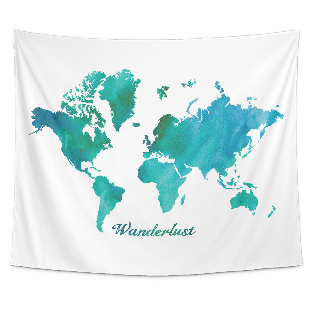 Watercolor world map wanderlust tapestry dazl online watercolor world map wanderlust tapestry gumiabroncs Image collections