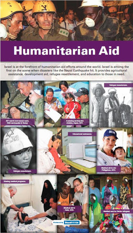 "48""W x 84""H Humanitarian Aid  retractable banner"