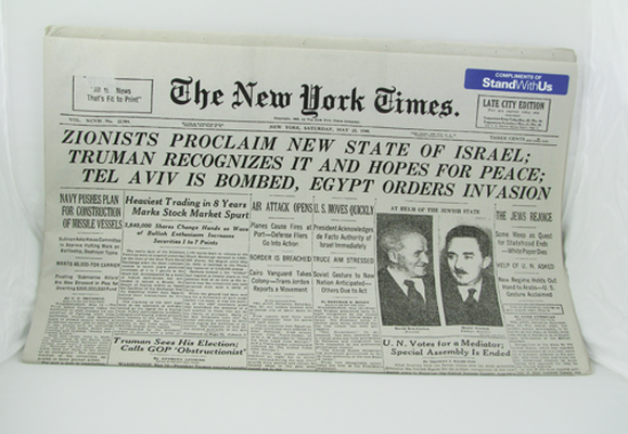 Reprint Of The New York Times From May 15, 1948