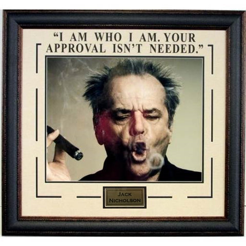 "Jack Nicholson ""I Am Who I Am, You're Approval is Not Needed""  Photograph"