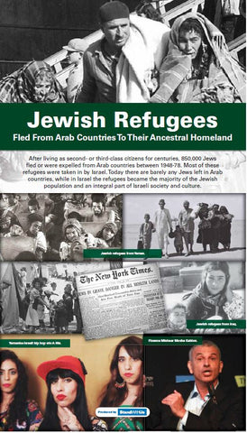 "48""W x 84""H Jewish Refugees retractable banner"