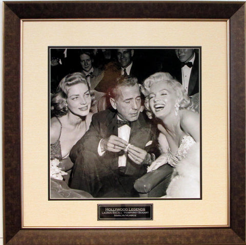 Hollywood Legends Vintage Photograph with Bogart, Monroe, & Bacall