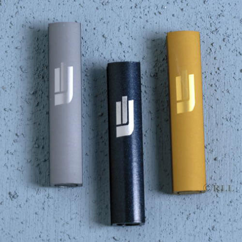 Self-Stick Sandblasted Aluminum Mezuzah - 3.4""
