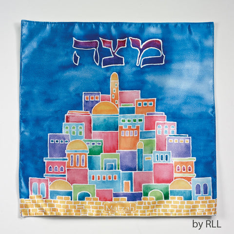 """Jerusalem"" Square Matzah Cover"