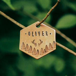 Buck- Simple Style - Copper Paws Dog Tags