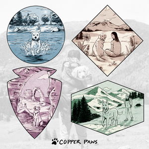 Trails & Tails Sticker Combo Pack - Copper Paws Dog Tags