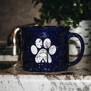 Camp Paw Ceramic Mug - Copper Paws Dog Tags