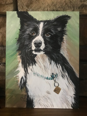 Hand-Painted Pet Portrait - Copper Paws Dog Tags