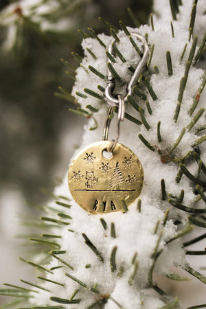Arctic Fox- Winter Collection - Copper Paws Dog Tags