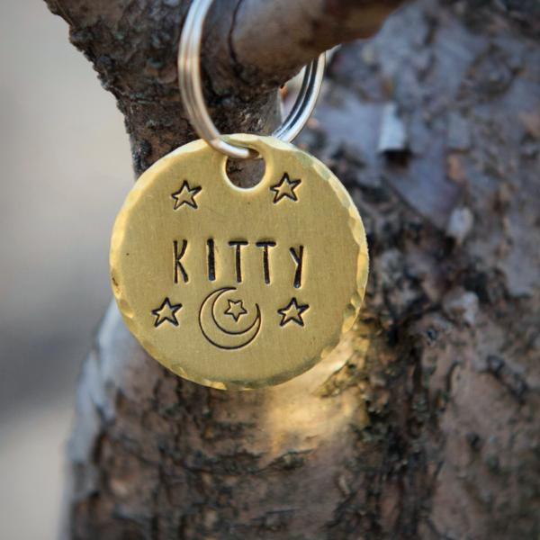 Night Owl- Kitty Tag - Copper Paws Dog Tags