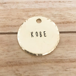 Basic Dog Tag - Copper Paws
