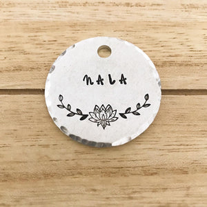 Lotus- Simple Style - Copper Paws Dog Tags