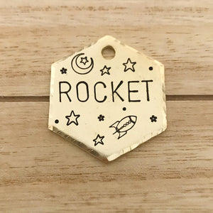 Rocket- Simple Style - Copper Paws Dog Tags