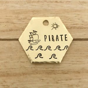 Pirate- Summer Collection - Copper Paws Dog Tags