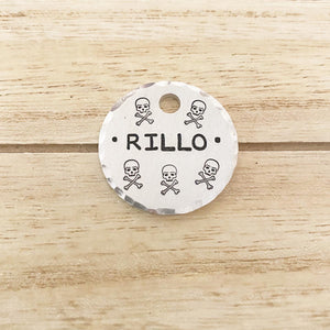 Skulls N Bones- Kitty Tag - Copper Paws