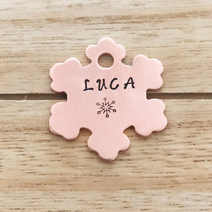 Snowflake Special- Winter Collection - Copper Paws Dog Tags